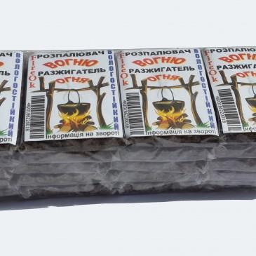 В блоке 20 упаковок разжигателей-fireOk